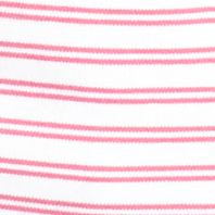 Layering Tees for Women: Pink Capri Kim Rogers V-Neckline Stripe Knit Tee