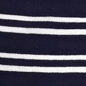 Layering Tees for Women: Navy / White Kim Rogers Interlock Stripe Knit Tank
