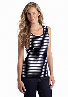 Kim Rogers® Interlock Stripe Knit Tank