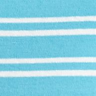 Layering Tees for Women: Aqua / White Kim Rogers Interlock Stripe Knit Tank