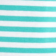 Layering Tees for Women: Turq / White Kim Rogers Fun Stripe Rib Top
