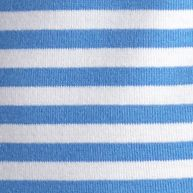 Layering Tees for Women: Blue / White Kim Rogers Fun Stripe Rib Top