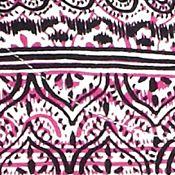 Kim Rogers Women Sale: Pink/Black Kim Rogers Three Quarter Sleeve Peasant Printed Top