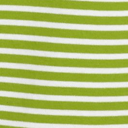 Women's T-shirts: Lime / White Kim Rogers Striped Crew Neck Tee