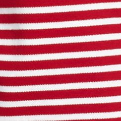 Women's T-shirts: Red / White Kim Rogers Striped Crew Neck Tee