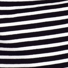 Women's T-shirts: Black / White Kim Rogers Striped Crew Neck Tee
