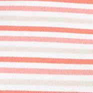 Women's T-shirts: Coral Combo Kim Rogers V Neck Sunset Stripe Tee