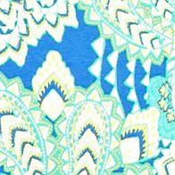 Women's T-shirts: Blue/Lime Kim Rogers Tropical Paisley Print Tee