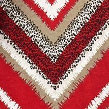 Women's T-shirts: Red/Black Kim Rogers Chevron Print Peasant Blouse
