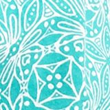 Women's T-shirts: Turquoise/White Kim Rogers Medallion Print Peasant Top