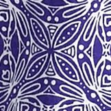 Women's T-shirts: Purple/White Kim Rogers Medallion Print Peasant Top