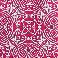 Women's T-shirts: Pink/White Kim Rogers Medallion Print Peasant Top