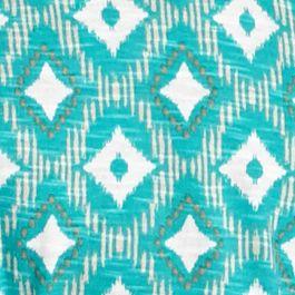 Women's T-shirts: Turq Combo Kim Rogers Printed Bib Embroidered Knit Top