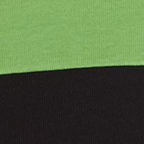 Women's T-shirts: Green/Black Kim Rogers Three Quarter Sleeve Crew Neck Colorblock Shirt