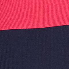 Women's T-shirts: Pink/Navy Kim Rogers Three Quarter Sleeve Crew Neck Colorblock Shirt