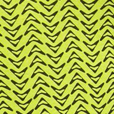 Women's T-shirts: Lime/Black Kim Rogers V-Neck Geometric Chevron Tee