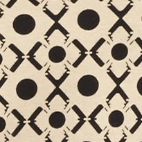 Knit Tops for Women: Khaki/Black Kim Rogers Three Quarter Sleeve Geographic Tunic