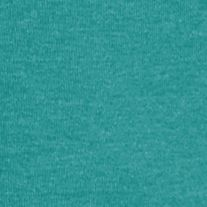 Women's T-shirts: Teal Heather Kim Rogers Three Quarter Sleeve Ribbed V Neck Heather Top