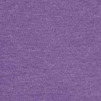 Women's T-shirts: Grape Heather Kim Rogers Three Quarter Sleeve Ribbed V Neck Heather Top