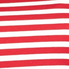 Kim Rogers Women Sale: Red/Ivory Kim Rogers Long Sleeve Yarn Dye Striped Mock Neck Shirt