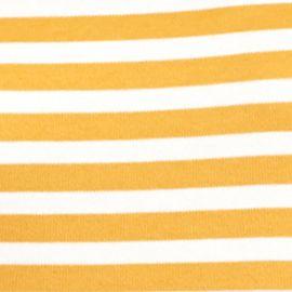Kim Rogers Women Sale: Gold/Ivory Kim Rogers Long Sleeve Yarn Dye Striped Mock Neck Shirt