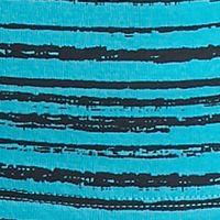Women's T-shirts: Turquoise Flame/Black Kim Rogers V-Neck Stripe Tee
