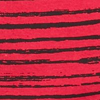 Women's T-shirts: Red/Black Kim Rogers V-Neck Stripe Tee