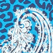 Kim Rogers Women Sale: Turquoise/Navy Kim Rogers Long Sleeve Wasson Paisley Top