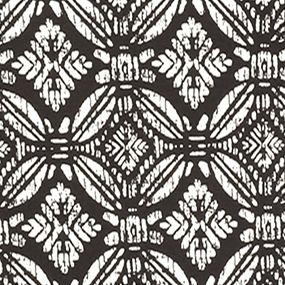 Women's T-shirts: Black/Ivory Kim Rogers Long Sleeve Tile Wash Printed Top