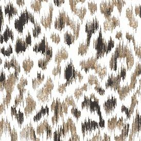 Womens Tees: Khaki/Black Kim Rogers Long Sleeve Jewel Neckline Animal Printed Tee