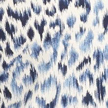 Womens Tees: Navy/Stone Kim Rogers Long Sleeve Jewel Neckline Animal Printed Tee