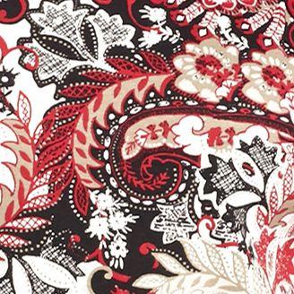 Women's T-shirts: Red/Black Kim Rogers Three-Quarter Sleeve Ballet Neck Paisley Tunic