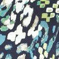 Women's T-shirts: Turquoise/Navy Kim Rogers Three Quarter Sleeve Ballet Neck Tunic