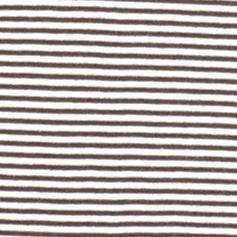 Women's T-shirts: Brown/White Kim Rogers Three Quarter Sleeve Two Pocket Striped Henley Tee