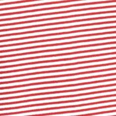 Women's T-shirts: Red/White Kim Rogers Three Quarter Sleeve Two Pocket Striped Henley Tee