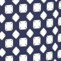 Women's T-shirts: Navy/Ivory Kim Rogers Biopolish Mock Neck Tee