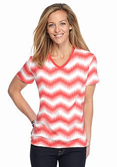 Kim Rogers Subsonic Print V-Neck Tee