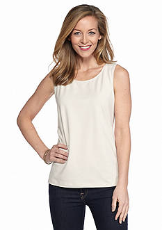 Kim Rogers Solid Sleeveless Tank