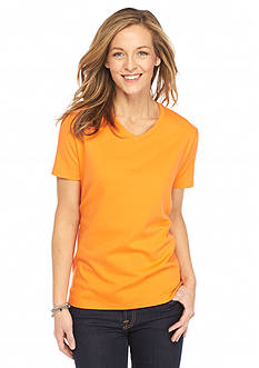 Kim Rogers Solid V Neck Top