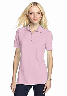 Kim Rogers Solid Polo Shirt
