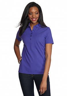 Kim Rogers Solid Polo Shirt