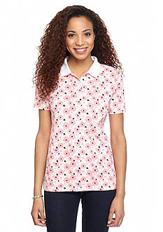 Kim Rogers Polo Floral Top