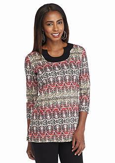 Kim Rogers Printed Tunic Top