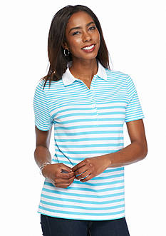 Kim Rogers Striped Polo