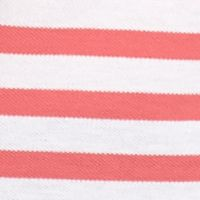 Kim Rogers Women: Sorbet/White Kim Rogers Striped Polo