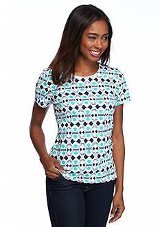 Kim Rogers Rio Geometric Print Knit Top