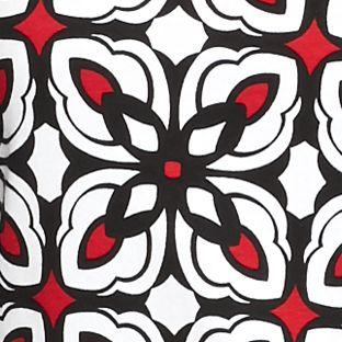 Tunic Tops: Black/Red Kim Rogers Geometric Print Tunic