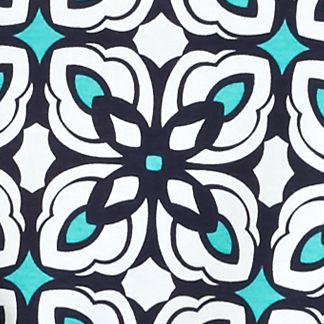 Tunic Tops: Navy/Turquoise Kim Rogers Geometric Print Tunic
