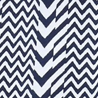 Kim Rogers Women Sale: Navy/White Kim Rogers Split Neck Chevron Print Top