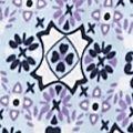 Kim Rogers® Women Sale: Blue Combo Kim Rogers Medallion Print Henley Top